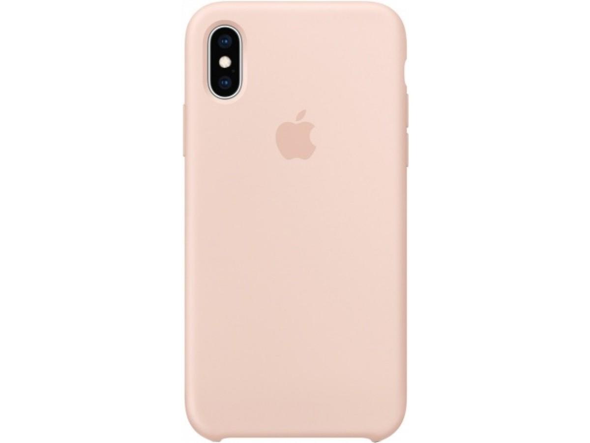 Чехол Silicone Case для iPhone Xs Max светло-розовый в Тюмени