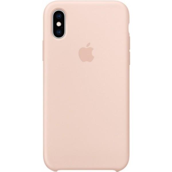 Чехол Silicone Case для iPhone Xs Max светло-розовый