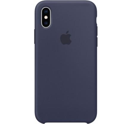 Чехол Silicone Case для iPhone Xs Max темно-синий