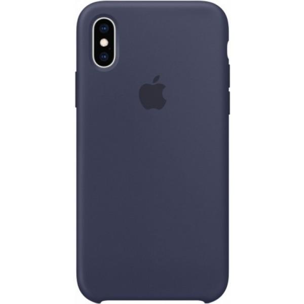 Чехол Silicone Case (С) iPhone Xs Max темно-синий