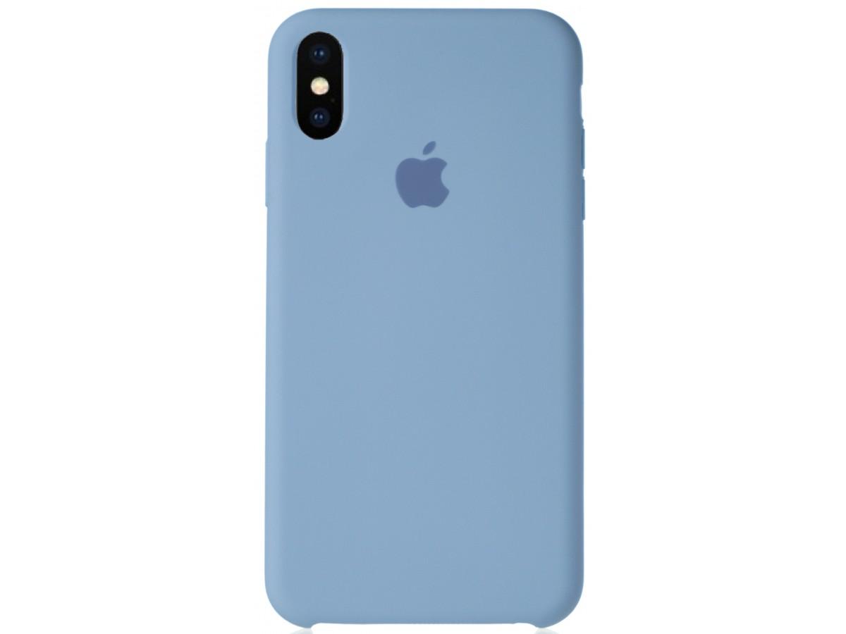 Чехол Silicone Case для iPhone Xs Max светло-голубой в Тюмени