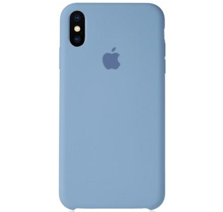 Чехол Silicone Case для iPhone Xs Max светло-голубой