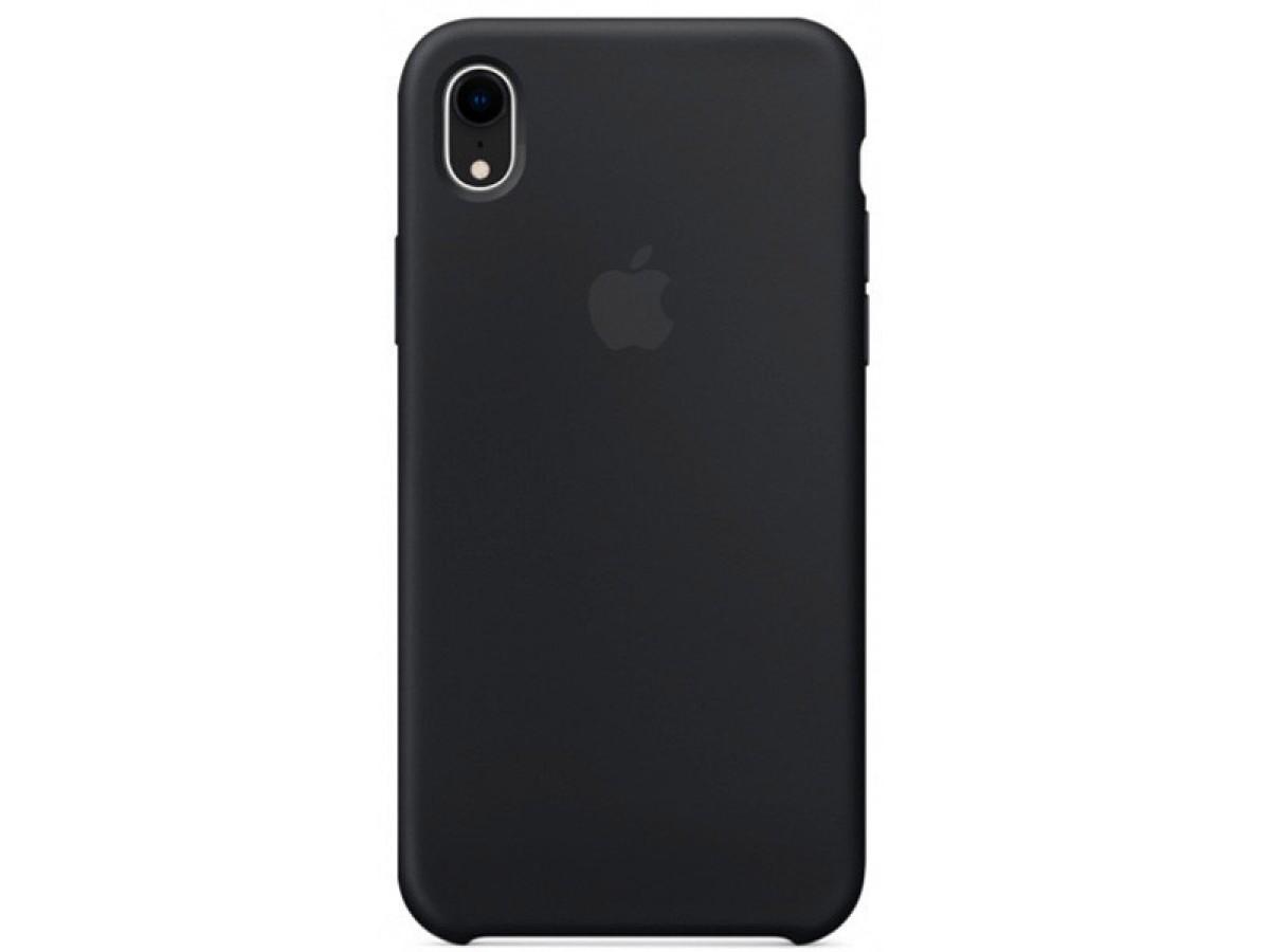 Чехол Silicone Case для iPhone XR черный в Тюмени