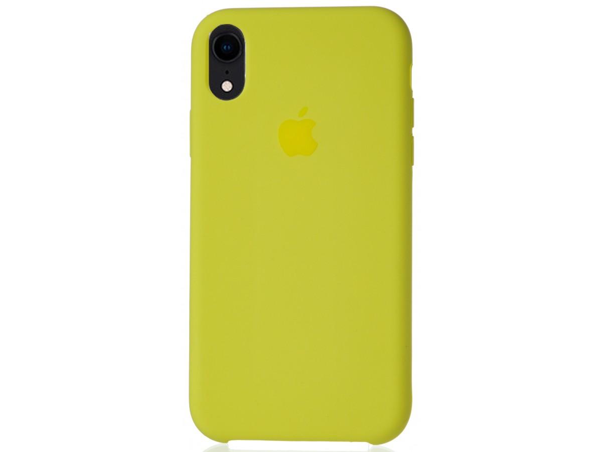 Чехол Silicone Case для iPhone XR желтый в Тюмени