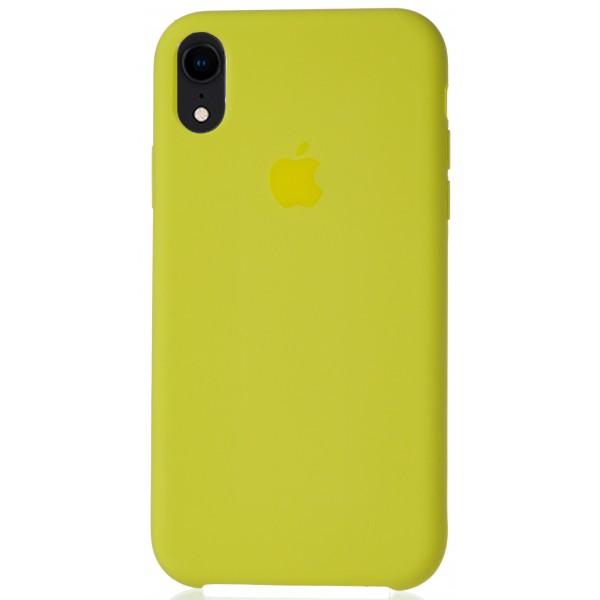 Чехол Silicone Case для iPhone XR желтый