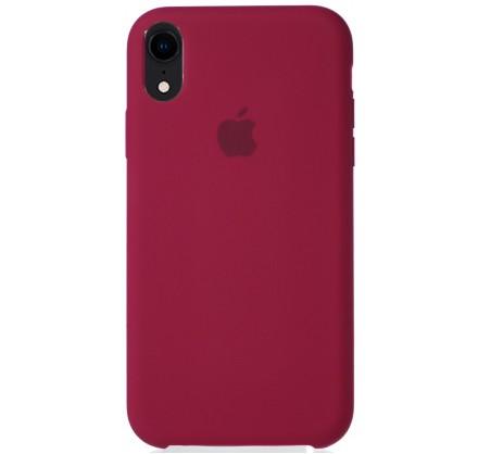 Чехол Silicone Case iPhone XR малиновый