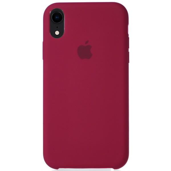 Чехол Silicone Case для iPhone XR малиновый