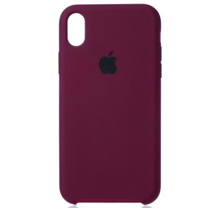 Чехол Silicone Case iPhone XR марсала