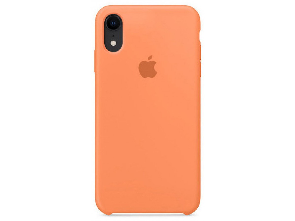 Чехол Silicone Case для iPhone XR светло-оранжевый в Тюмени