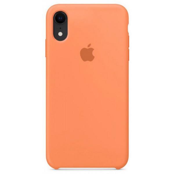 Чехол Silicone Case для iPhone XR светло-оранжевый