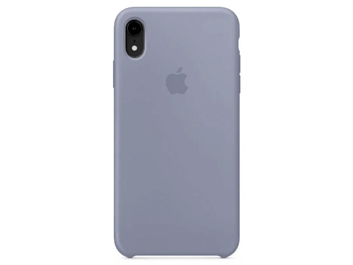 Чехол Silicone Case для iPhone XR темно-лавандовый в Тюмени