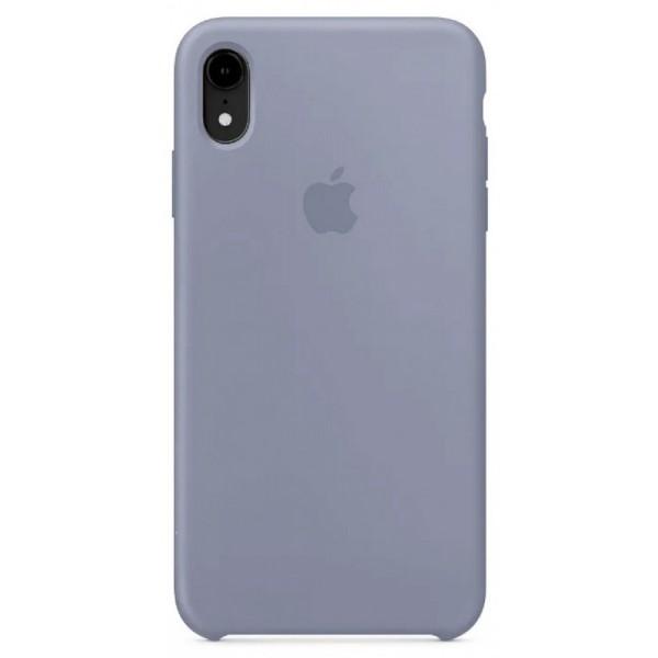 Чехол Silicone Case для iPhone XR темно-лавандовый