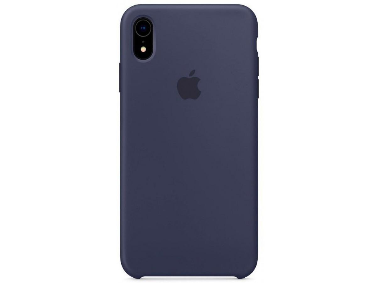Чехол Silicone Case для iPhone XR темно-синий в Тюмени