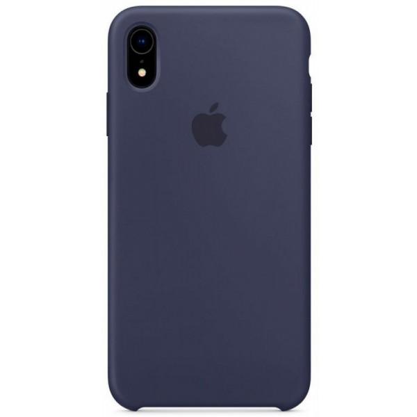 Чехол Silicone Case для iPhone XR темно-синий