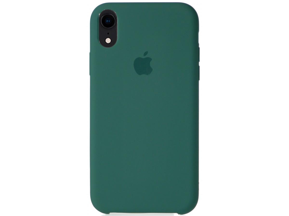 Чехол Silicone Case для iPhone XR темно-зеленый в Тюмени