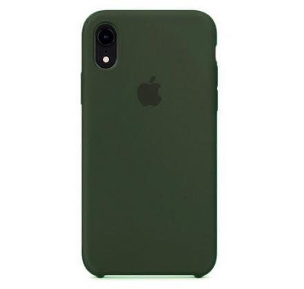 Чехол Silicone Case iPhone XR темно-зеленый