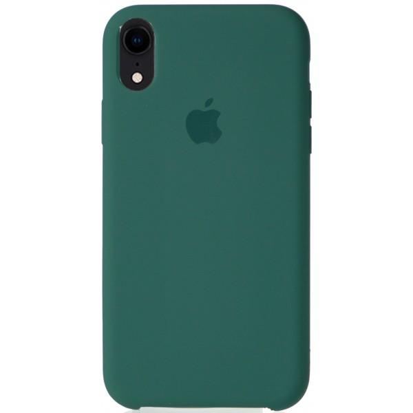 Чехол Silicone Case для iPhone XR темно-зеленый