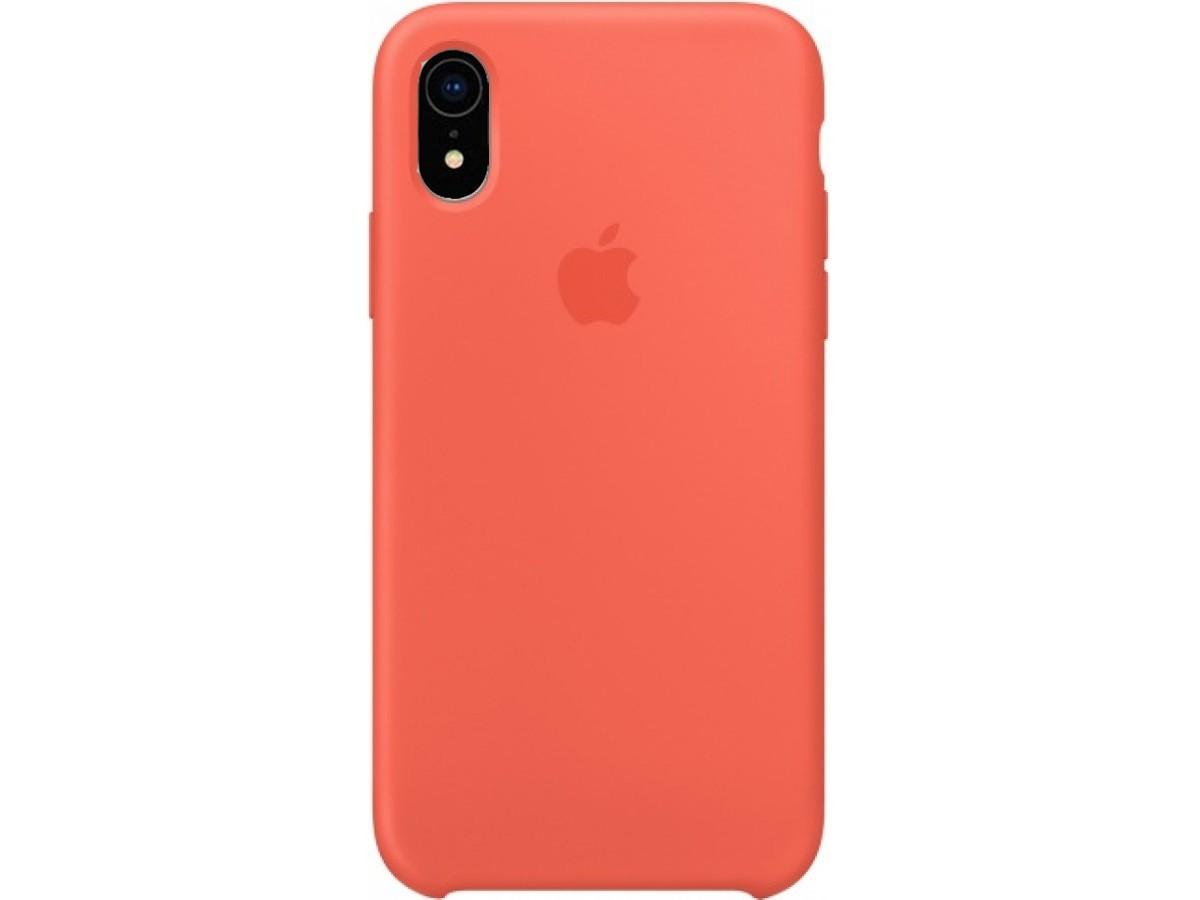 Чехол Silicone Case качество Lux для iPhone XR оранжевый в Тюмени