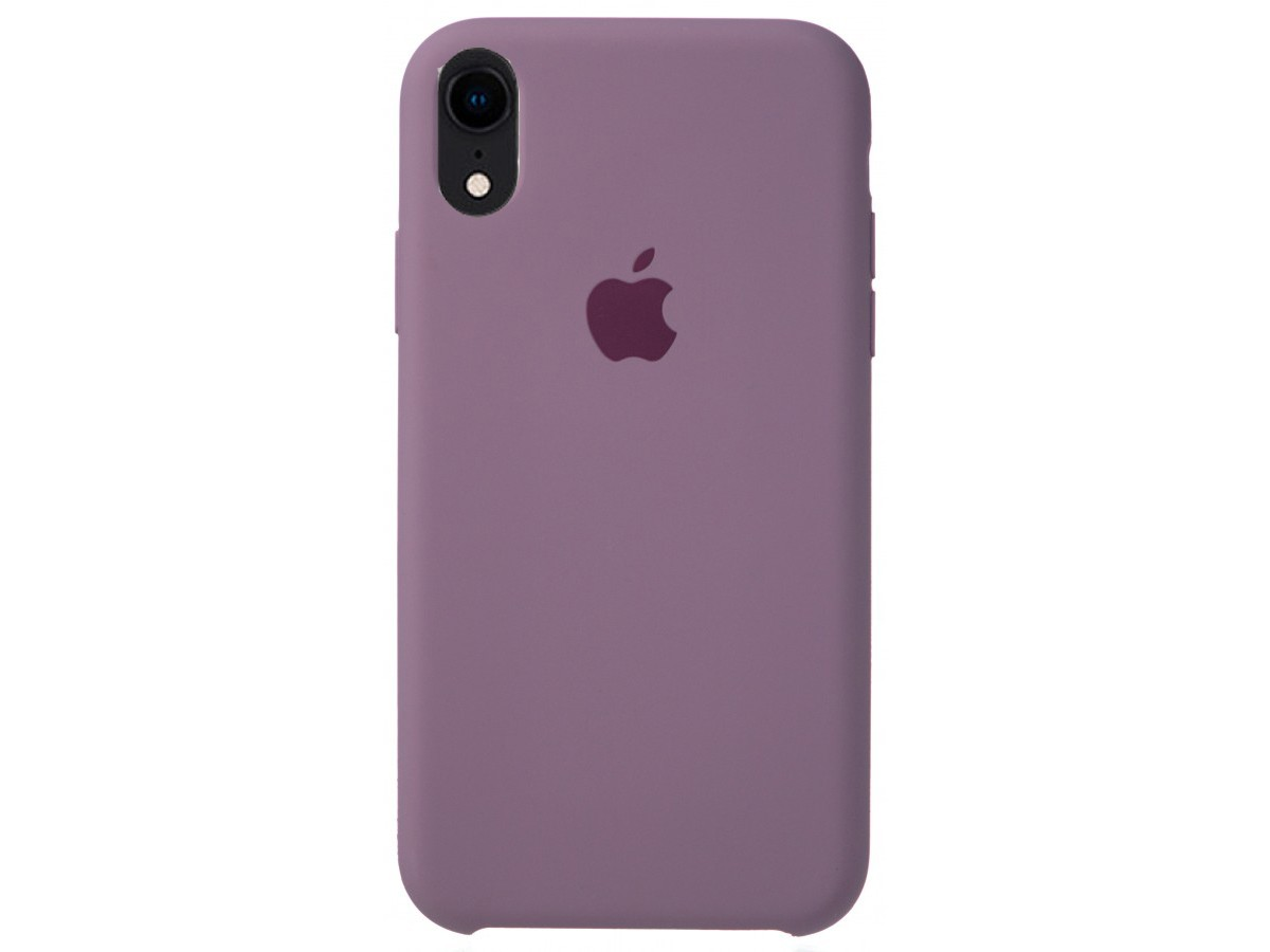 Чехол Silicone Case для iPhone XR черничный в Тюмени