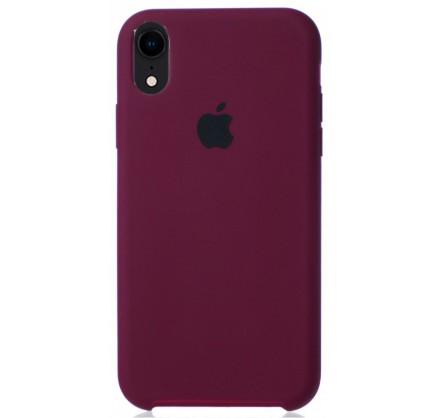 Чехол Silicone Case для iPhone XR марсала