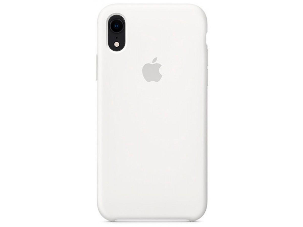 Чехол Silicone Case для iPhone XR белый в Тюмени