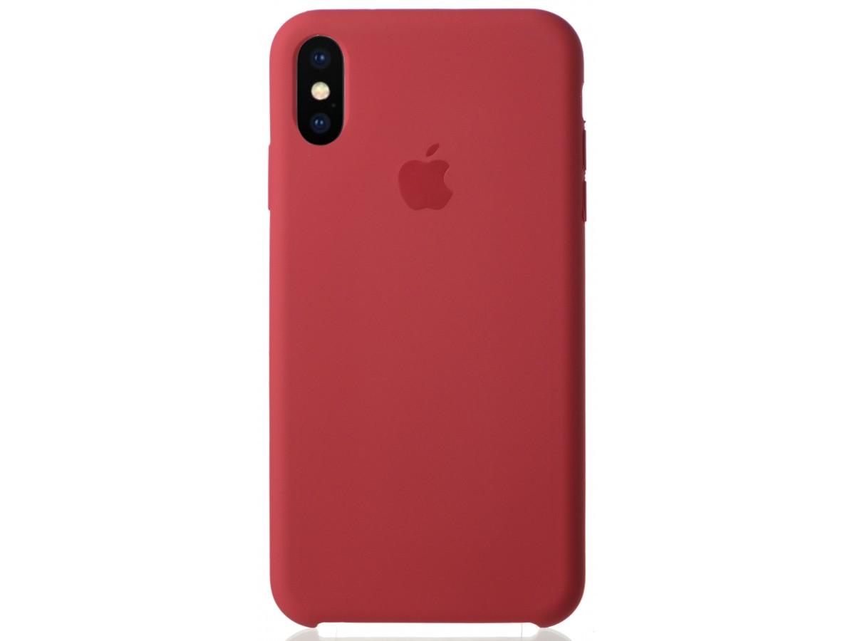 Чехол Silicone Case для iPhone Xs Max камелия в Тюмени