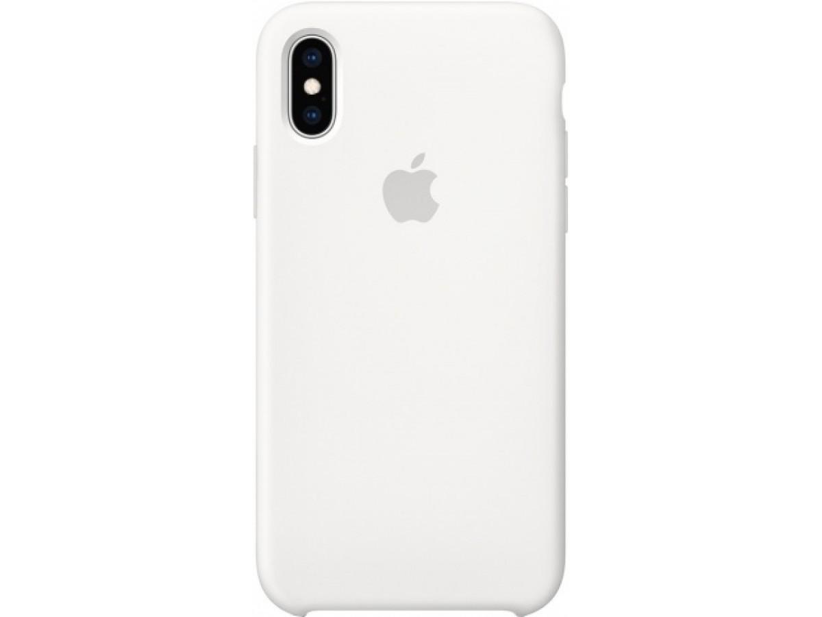 Чехол Silicone Case для iPhone Xs Max белый в Тюмени