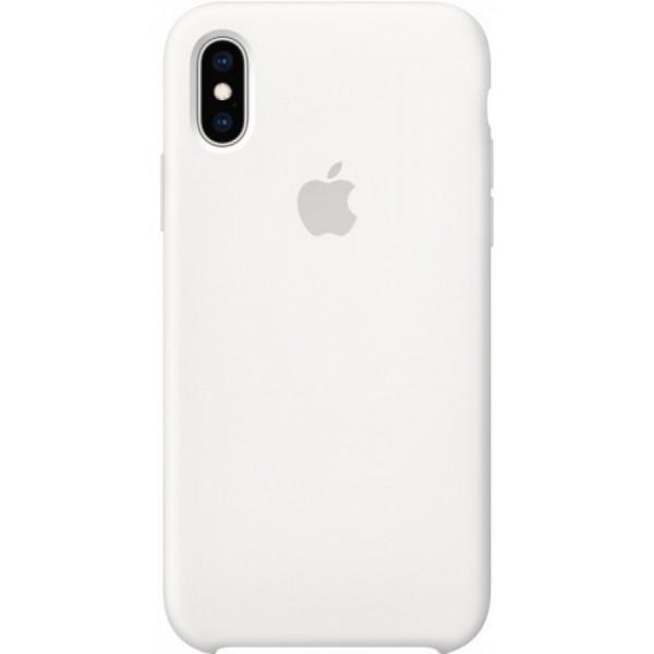 Чехол Silicone Case для iPhone Xs Max белый