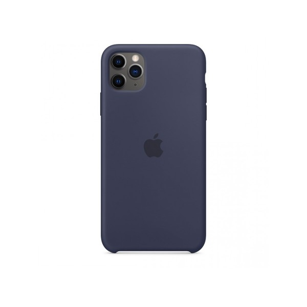 Чехол Silicone Case iPhone 11 Pro Max темно-синий (с)