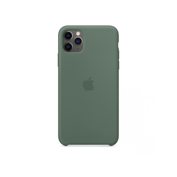 Чехол Silicone Case iPhone 11 Pro Max темно-зеленый (с)
