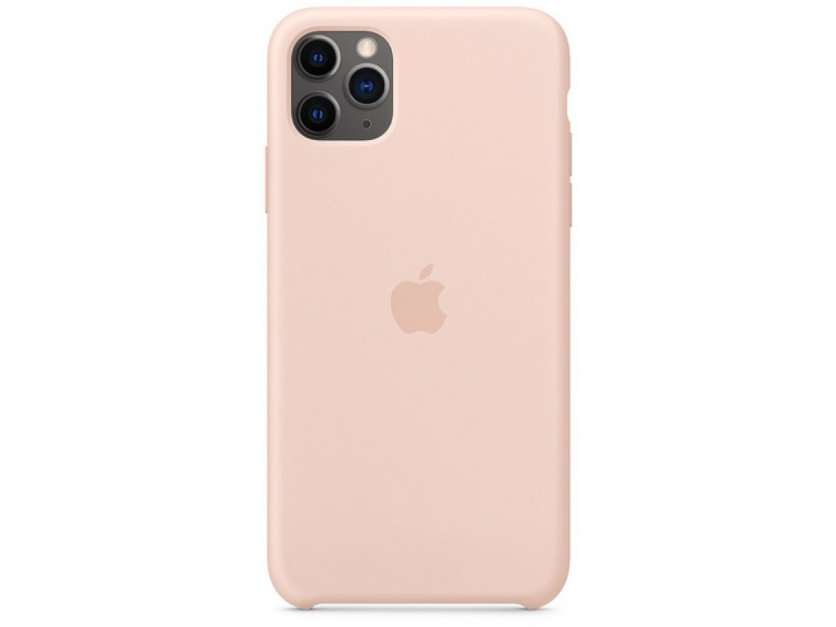 Чехол Silicone Case для iPhone 11 Pro Max светло-розовый в Тюмени