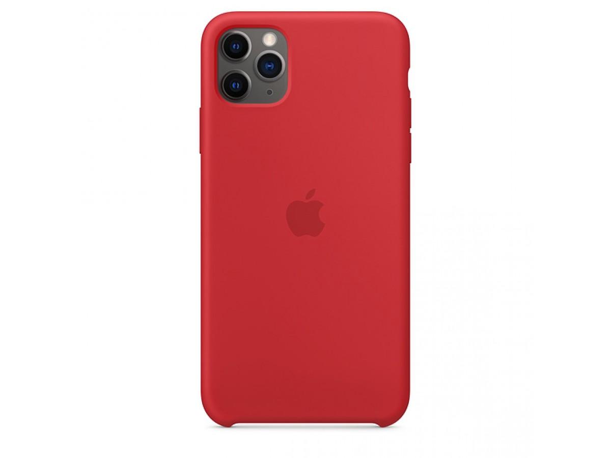 Чехол Silicone Case iPhone 11 Pro красный (с) в Тюмени
