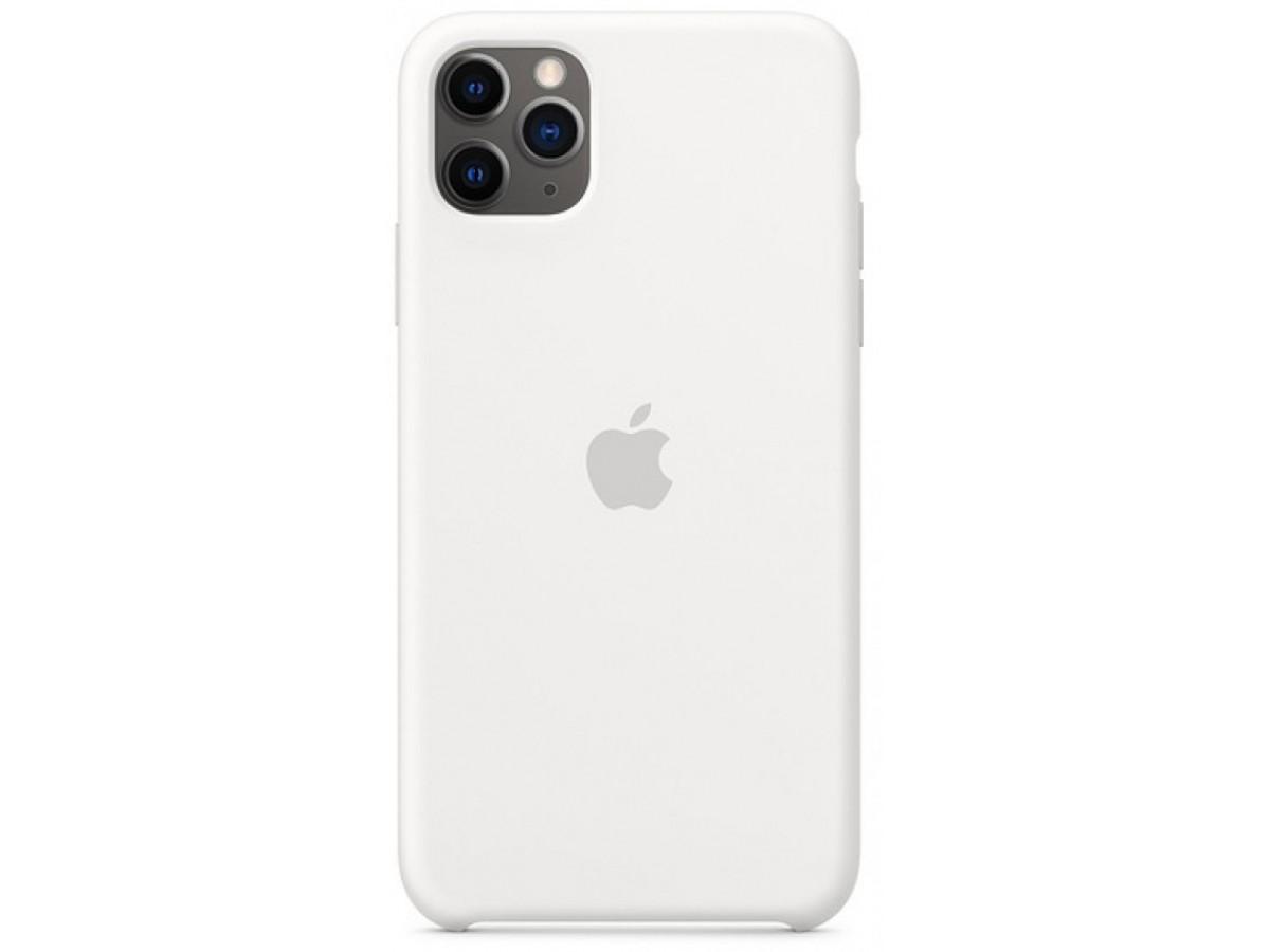 Чехол Silicone Case для iPhone 11 Pro белый в Тюмени