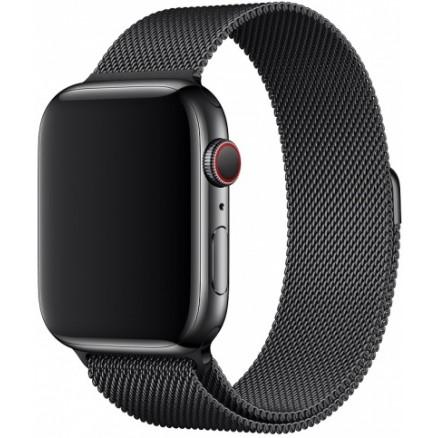 Ремешок миланский браслет Apple Watch 42/44 мм черный