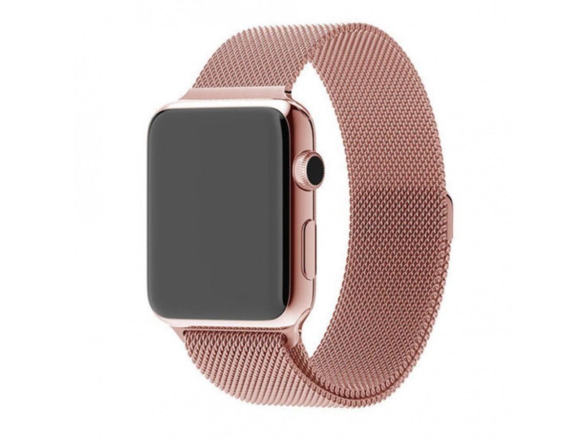 Браслет Apple Watch 38/40мм миланский сетчатый (розовый) в Тюмени
