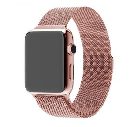 Браслет Apple Watch 38/40мм миланский сетчатый (розовый...