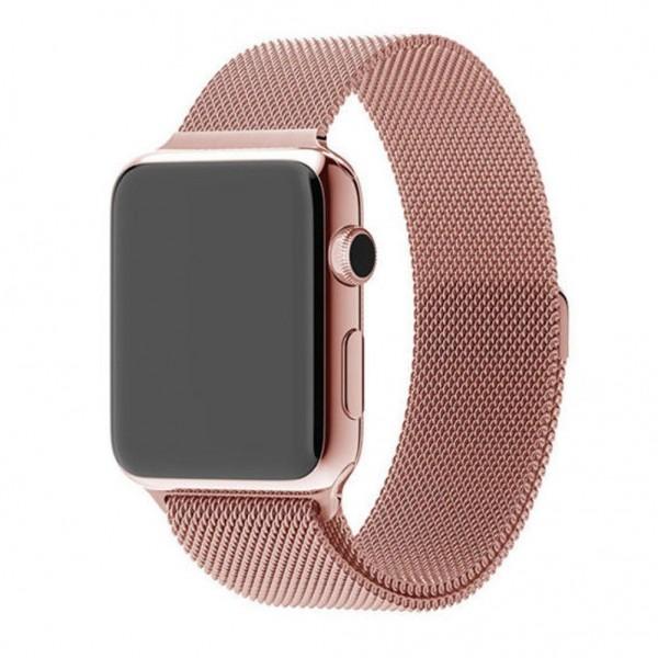 Браслет Apple Watch 42/44мм миланский сетчатый (розовый)