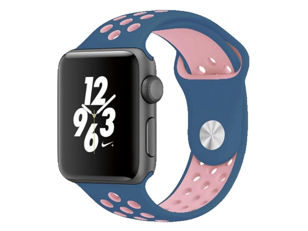 Силиконовый ремешок Apple Watch Nike 38/40мм синий в Тюмени