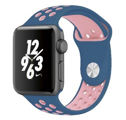 Силиконовый ремешок Apple Watch Nike 38/40мм синий