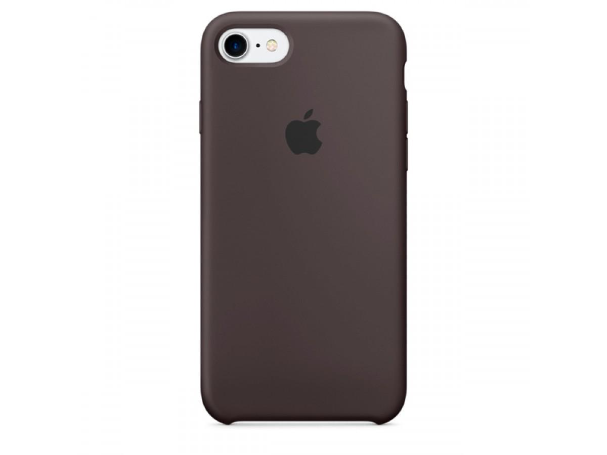 Чехол Silicone Case iPhone 7/8 темно коричневый в Тюмени