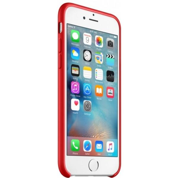 Чехол Silicone Case iPhone 6/6s красный