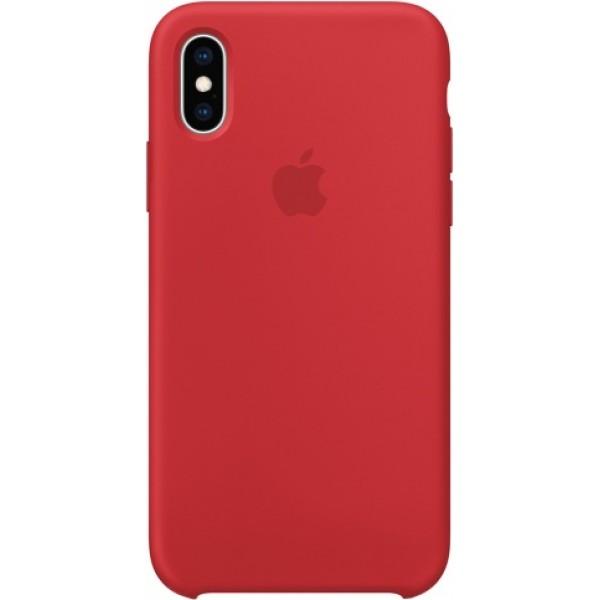 Чехол Silicone Case iPhone Xs Max красный