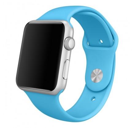Силиконовый ремешок Apple Watch 42/44мм голубой