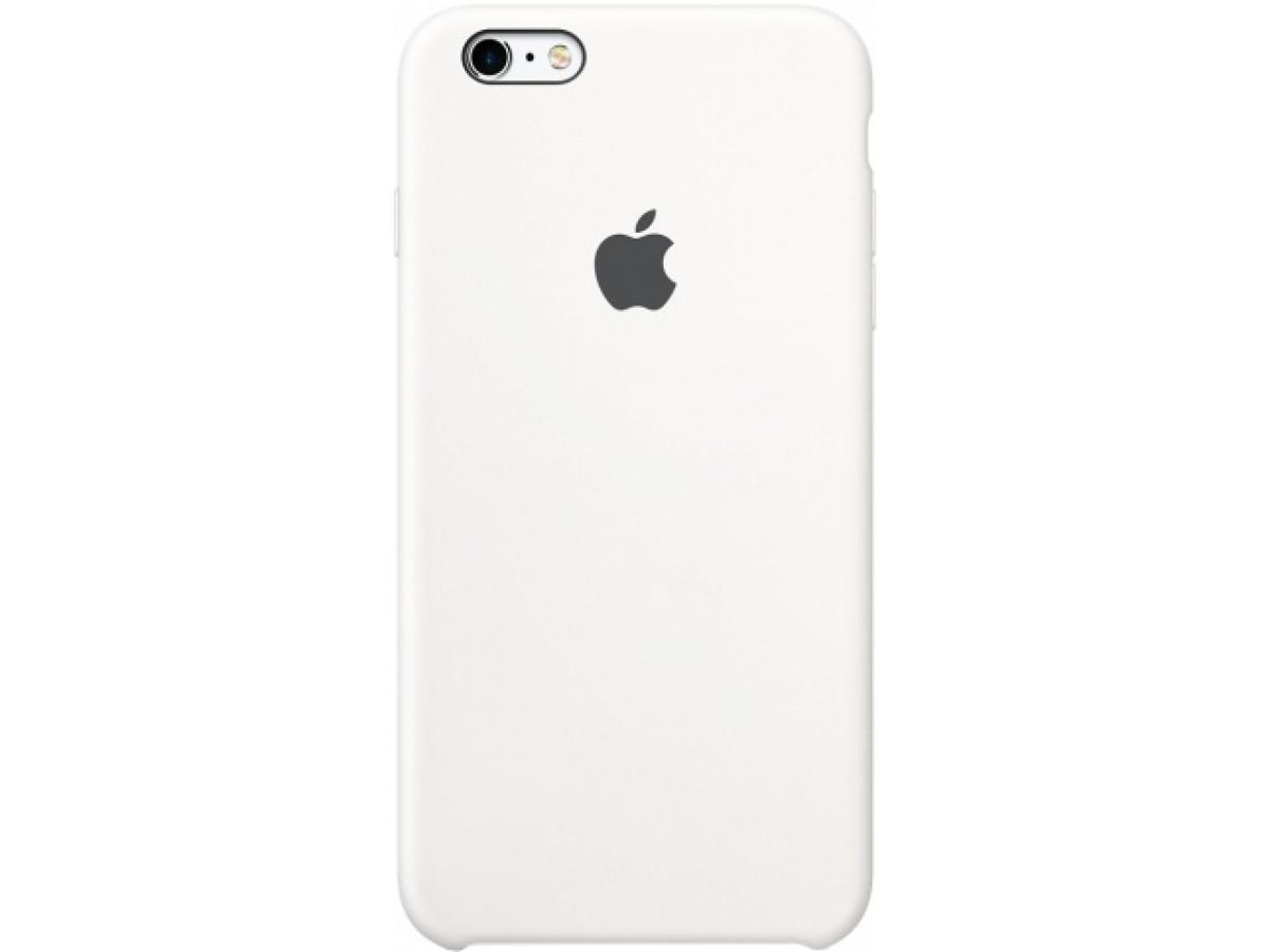 Чехол Silicone Case iPhone 6 Plus/6s Plus белый в Тюмени