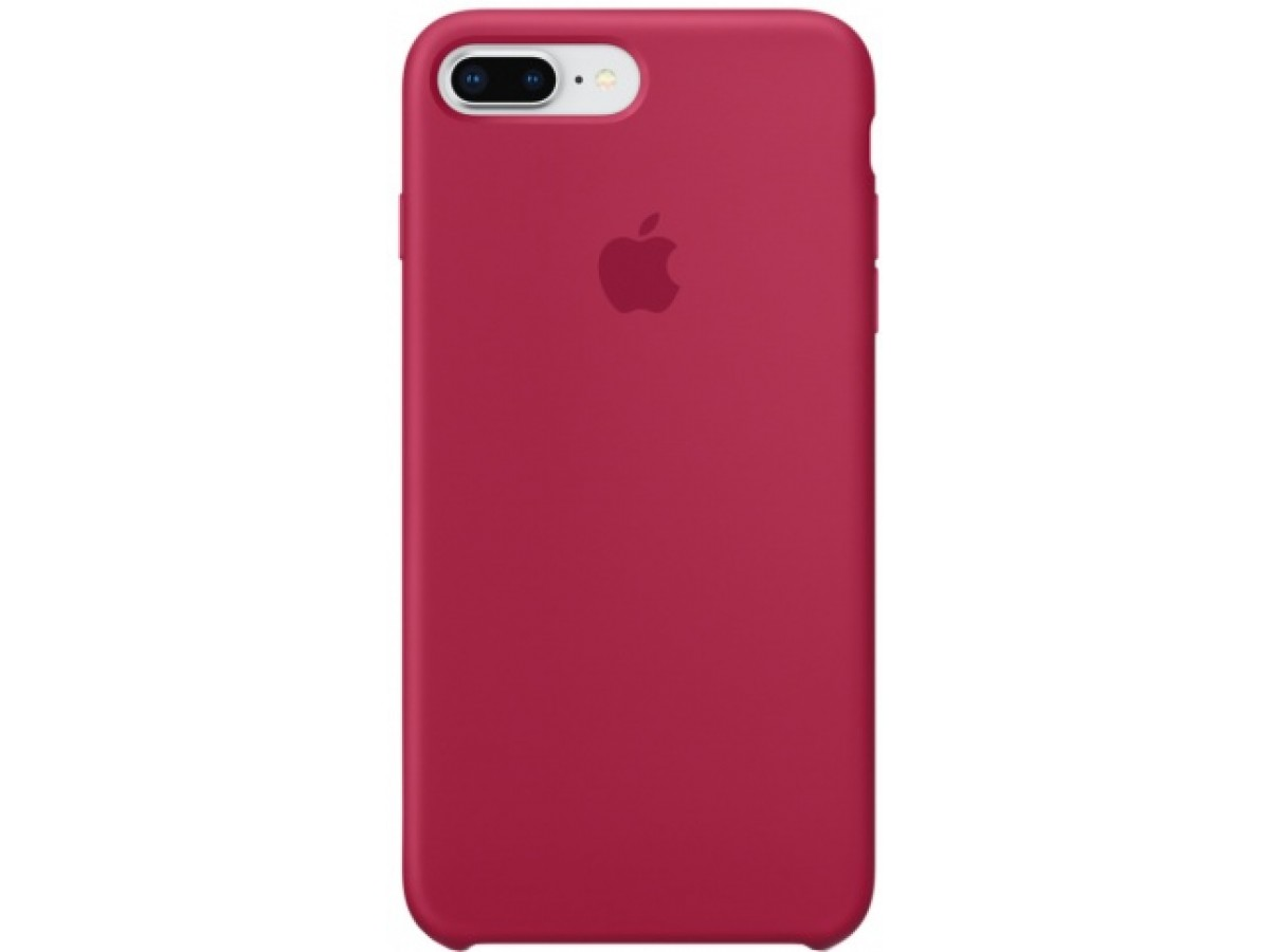 Чехол Silicone Case iPhone 7 Plus/8 Plus малиновый