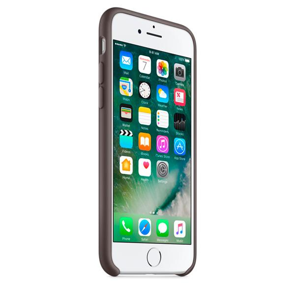 Чехол Silicone Case iPhone 7/8 темно коричневый