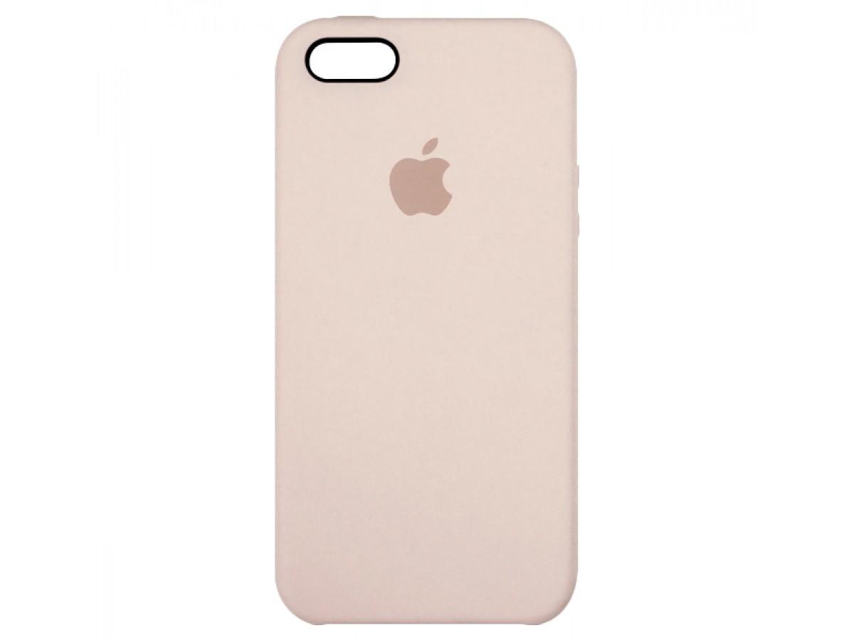 Чехол Silicone Case iPhone 5s/SE светло-розовый в Тюмени