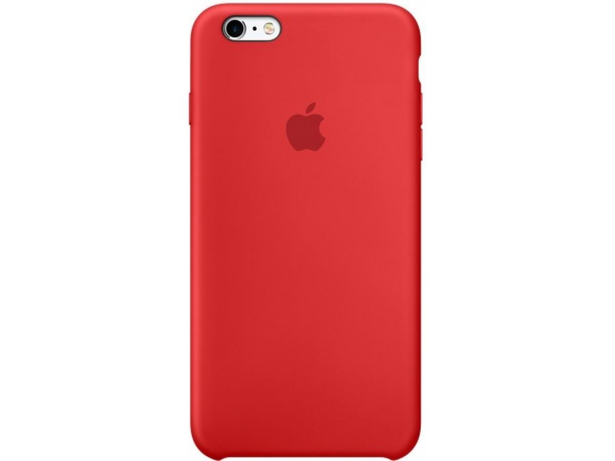 Чехол Silicone Case iPhone 6/6s красный в Тюмени