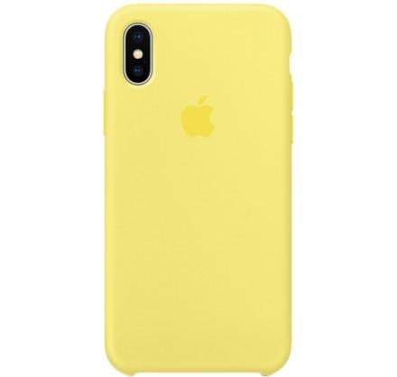 Чехол Silicone Case iPhone X/Xs желтый
