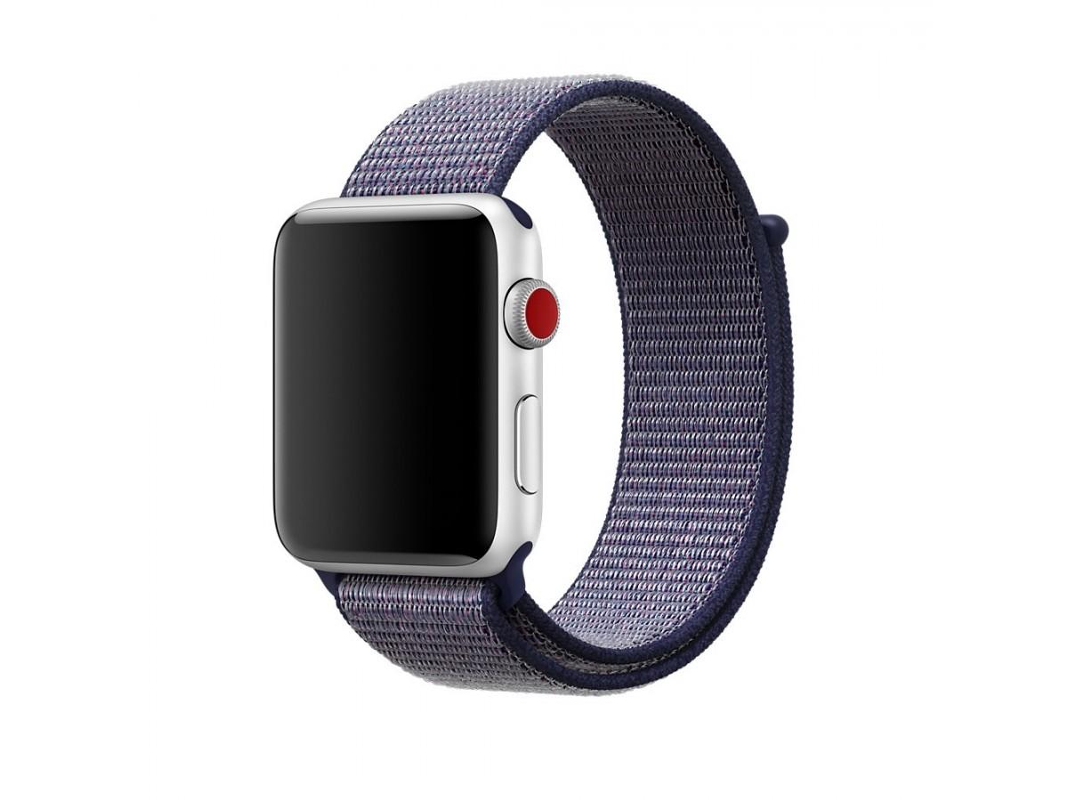 Браслет Apple Watch 42/44мм Спортивная петля (синий) в Тюмени